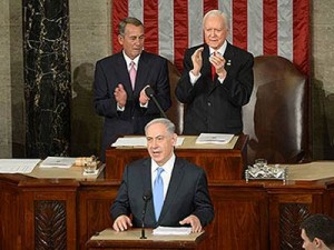 PM Netanyahu addressing Congress